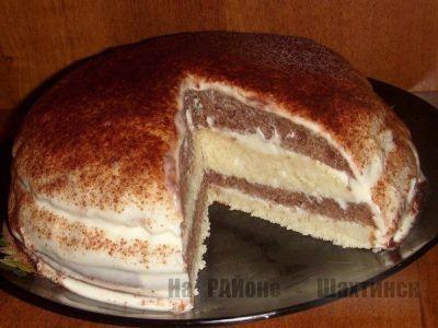 Простой и вкусный торт на кефире