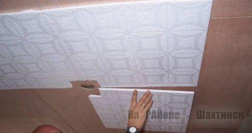 Потолочная плитка из полистирола