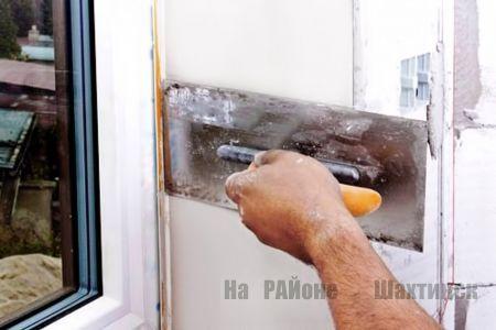 Как заделать откос окна.