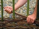 Делаем плетень на даче своими руками