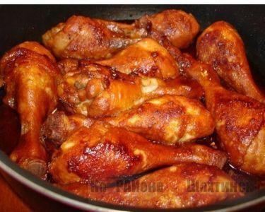 Куриные голени в  соево-медовом соусе